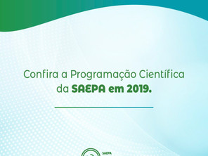 Confira a programação Científica Preliminar da Saepa em 2019