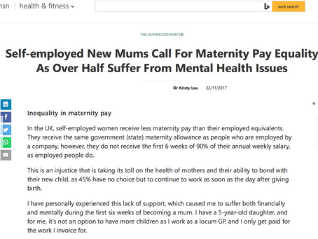 Self-employed New Mums Call For Maternity Pay Equality As Over Half Suffer From Mental Health Issues