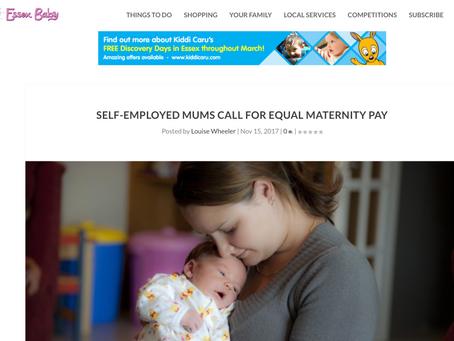 SELF-EMPLOYED MUMS CALL FOR EQUAL MATERNITY PAY