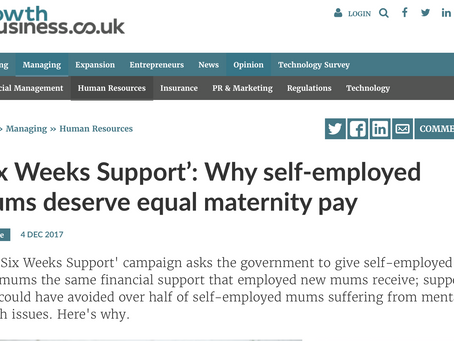 'Six Weeks Support': Why self-employed mums deserve equal maternity pay