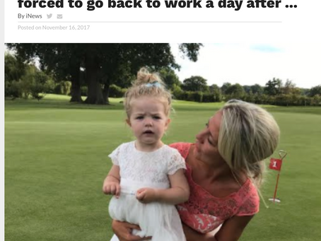 Self-employed mums say they are being forced to go back to work a day after ...