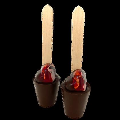 Dark Heart Hot Chocolate stirrer