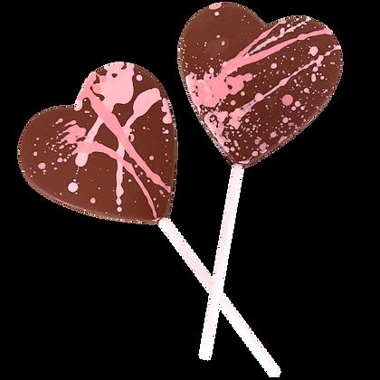 Milk Chocolate Splatter Lolly