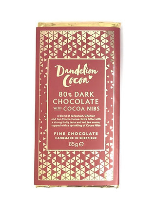 72% Dark with Cocoa Nibs Bar