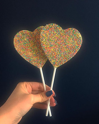 White Chocolate Sprinkles Lolly