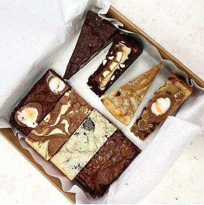 Mixed Brownie, Blondie & Cookie Slice Box