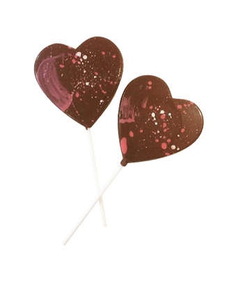 Milk Chocolate Splatter Lolly
