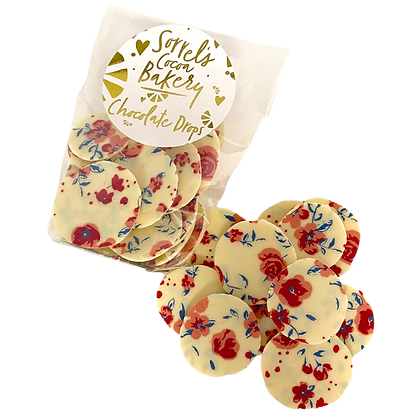 White Chocolate Floral Drops