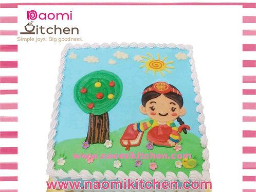Korean traditional girl cake