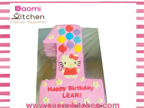 Number 1 - Hello Kitty with Ballons