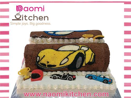 twin roll yellow car