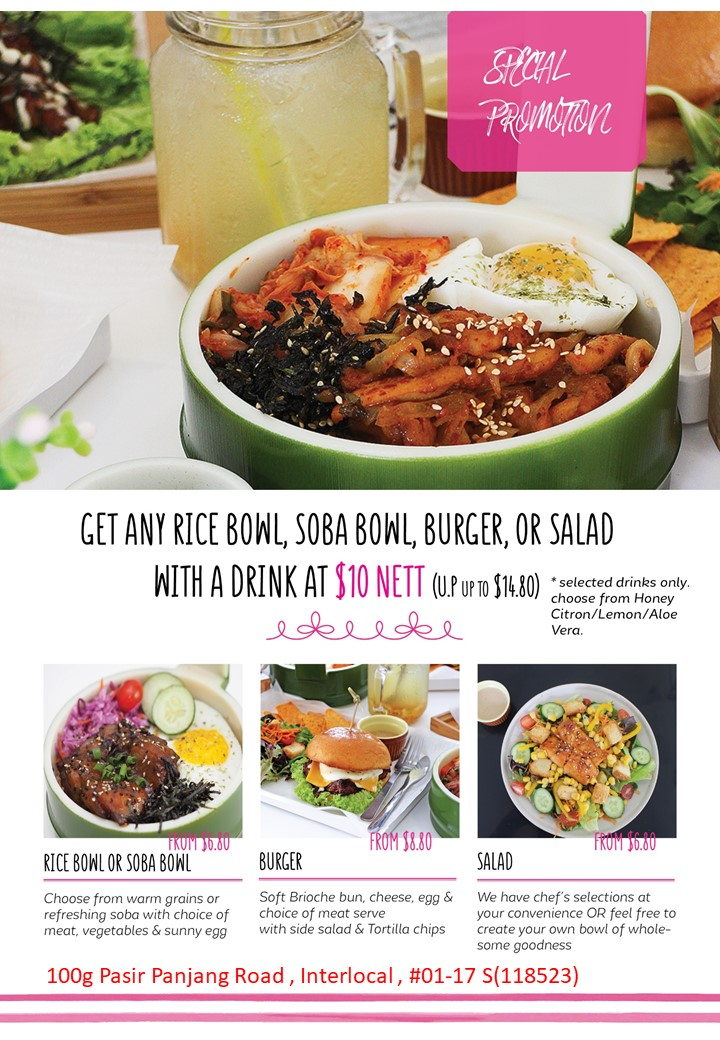 GET ANY RICE BOWL, SOBA BOWL, BURGER
