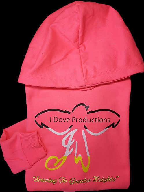 Breast Cancer Awareness Hot Pink Hoodie B|W|Y logo