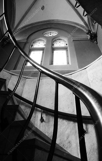 Staircase in Black and White