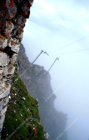 Ski Lift Cliffs in Summer