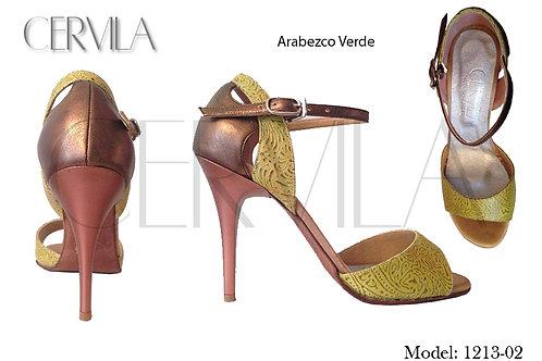 1213-02 Verde Arabezco heel:3.5 inch SIZE 34