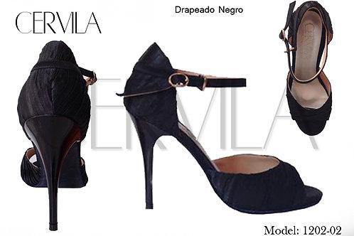 1202-02 Drapeado Negro