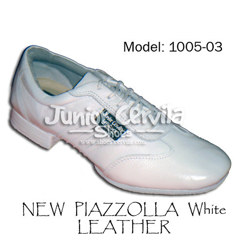1005-03 Piazzolla leather white size 45