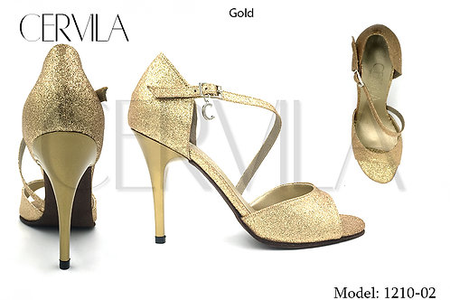 1210-02 Gold size 36 heel 3.5 in