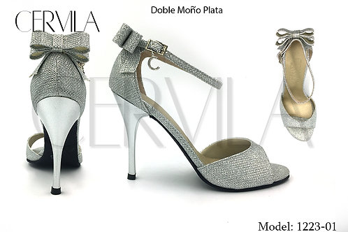1223-01 Doble Moño Silver