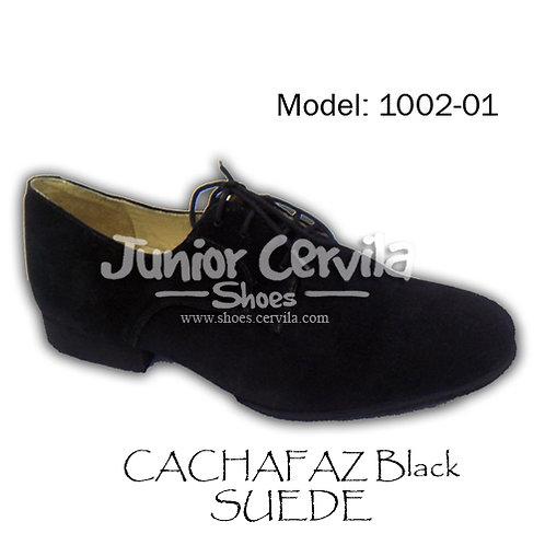 1002-01 Cachafaz Black Suede