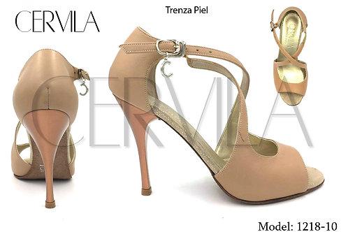 1218-10 Trenza Piel size 35 heel 3.5 in