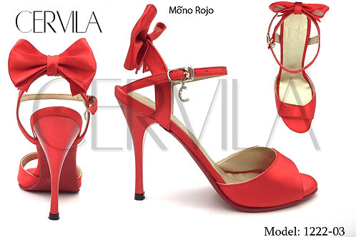 1222-03 Moño Rojo SIZE 39 heel 2.75 inches
