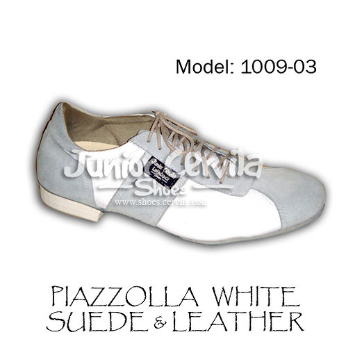 1009-03 Piazzolla suede/leather white