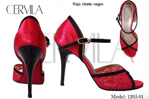 1205-01 Rojo Ribete size 36 heel 3.5 in
