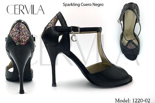 1220-02 Sparkling Cuero Negro