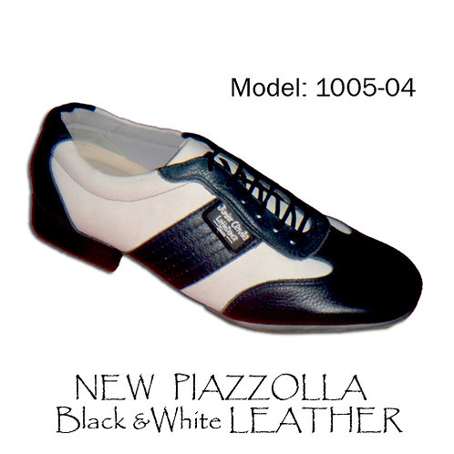 1005-04 New Piazzolla Black White Leather