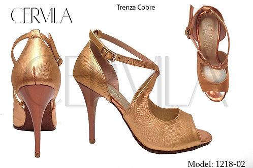 1218-02 Trenza Cobre size 39 heel 3.5 in