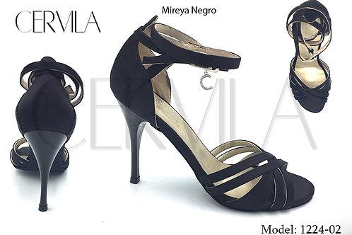 1224-02 Mireya Black size 36 heel 3.5 in