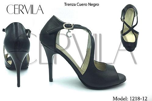 1218-12 Trenza Cuero Negro