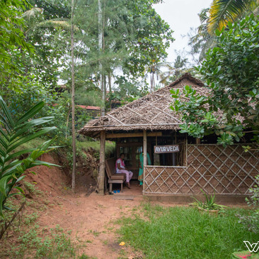 Ayurveda straw hut