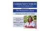 """New Online Series — """"Community Voices"""""""