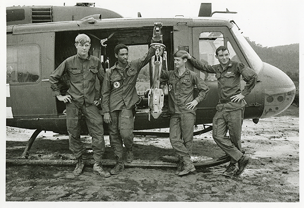 Soldiers with Helicopter