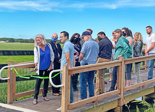 Officials Celebrate New Walking Path