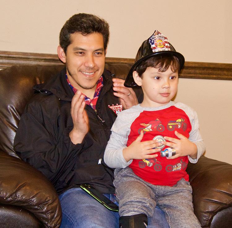 Paulo Velasco and his son Matteo