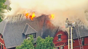 Monty & Rocky Hill Firefighters Help Extinguish Princeton Theological Seminary Blaze