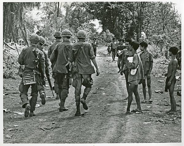 Soldiers in a Vietnam Village
