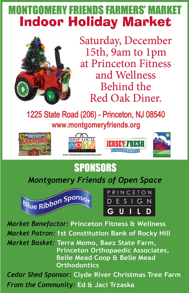 Montgomery Farmers' Market Moved Indoors to Princeton Fitness Center