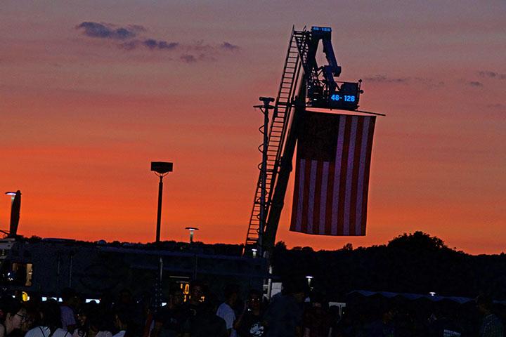 American Flag at Monty Fireworks