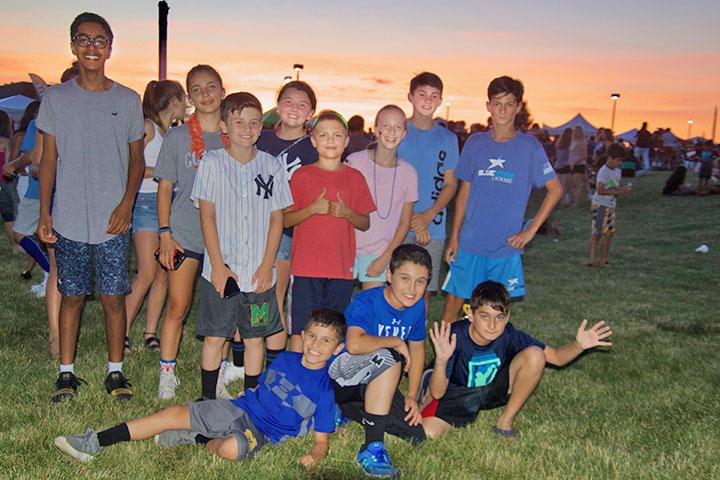 Kids at Monty Fireworks