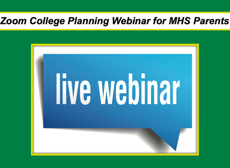 Zoom College Planning Webinar for MHS parents