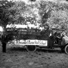 St. Benedict Catholic School parade float.  (c. 1922)