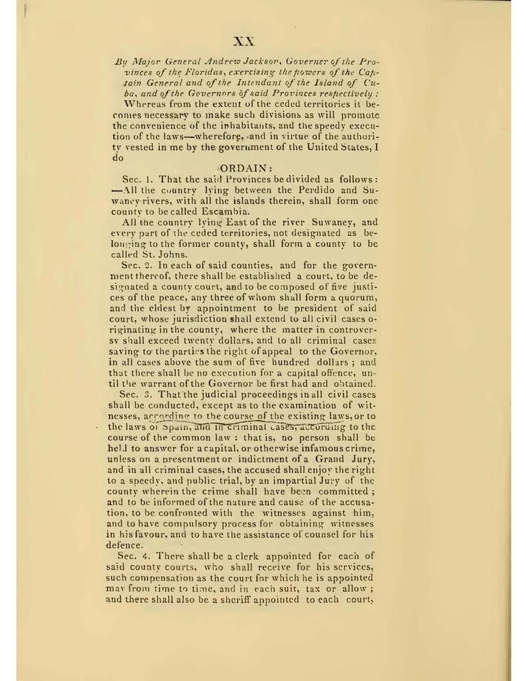 1822 Acts of the Legislative Council