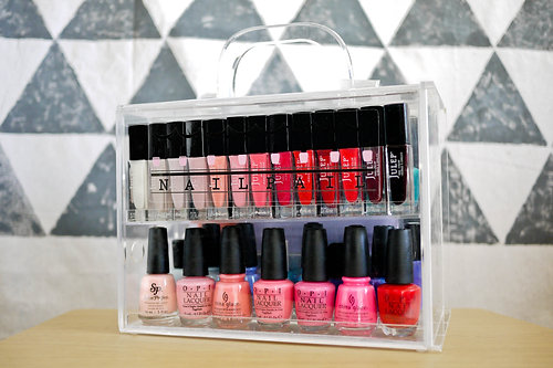 a case specially designed to organize all of your nail polish free shipping