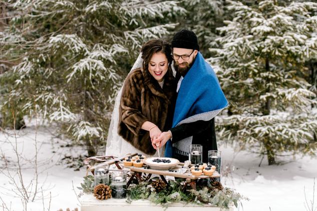 Dreamy snow elopement