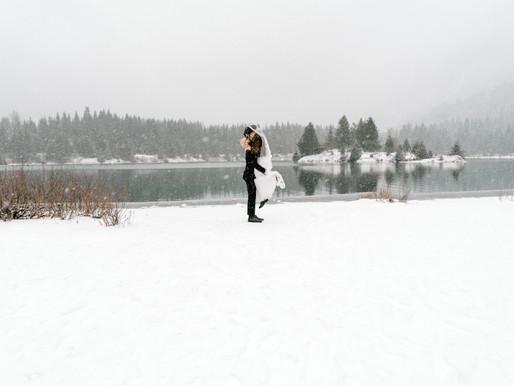 Dreamy December Elopement/Monique & Zachary/ Gold Creek Pond/ Washington/ Shantel Wall Photography